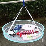 meisijia S Haken-Wäscheständer-faltende hängende Kleidung Wäschekorb-Trockner-Netz 1 Schicht (Farbe zufällig)