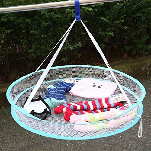 Meisijia s hook drying rack pieghevoli appendiabiti lavanderia cestino asciugabiancheria net 1 strato (colore casuale)