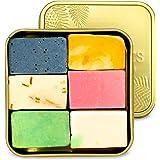 puremetics Zero Waste testpakket: 6 zeep mini's + reisbox gratis   100% natuurlijk, veganistisch & plasticvrij   natuurlijke