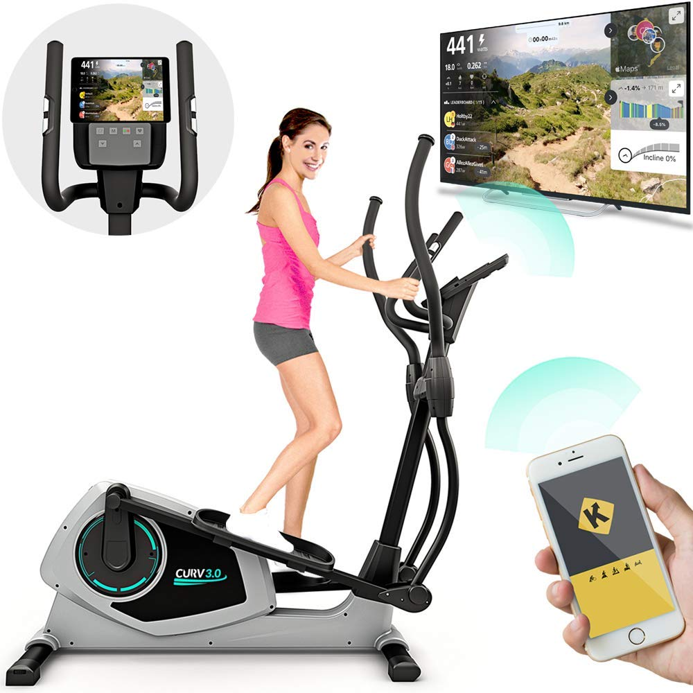 Bluefin Fitness CURV 3.0 Crosstrainer Ellipsentrainer, LCD Display, Bluetooth, App