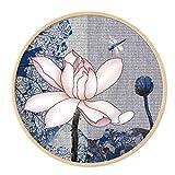 Daeou Colgante decorativo marco dibujo pintura de pared de fondo sala de estar sofá dormitorio de restaurante Xuan Guan Pai del círculo Nting