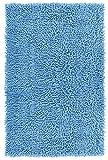 Lashuma Badematte hellblau - Wolke | schicker Chenille Duschvorleger | 50 x 80 cm | 100% Baumwolle