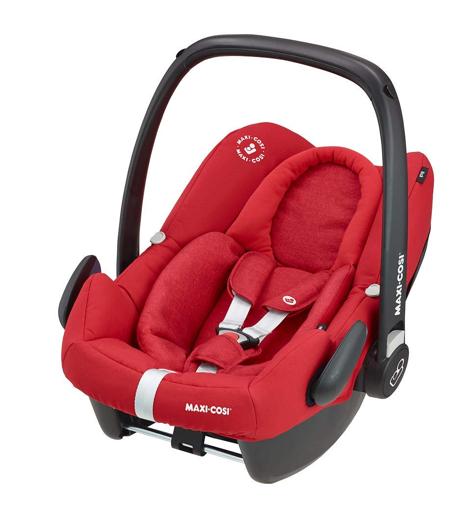 Maxi-Cosi Adorra Comfortable Urban Pushchair from Birth, Full Reclining Seat, 0 Months - 3.5 Years, 0 - 15 kg with Rock Baby Car Seat Group 0+,ISOFIX, i-Size Car Seat, Rearward-Facing, 0-12 m, Nomad Red, 0-13 kg Maxi-Cosi Cocooning seat - the luxury of a large padded seat for baby Lightweight - a light stroller less than 12kg that makes walking effortless Excellent safety rating: complies with the latest i-size (r129) car seat legislation 3