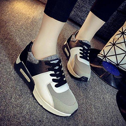 Damen / Mädchen Sport Casual Schuhe Frühjahr / Sommer / Herbst Mode Lace-up flachen Sneaker Black