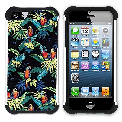 Graphic4You Hawaiisch Hawaii Postkarte Hart + Weiche Kratzfeste Hülle Case Schale Tasche Schutzhülle für Apple iPhone SE / 5 / 5S Design #13