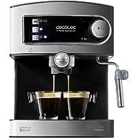 Cecotec Express Espresso 20 - Machine à expresso et cappuccino avec vaporisateur, pression de 20 bar et 850 W de puissance