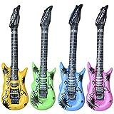 TRIXES Guitare Gonflable Amusante Déguisement Fêtes Musicales Rock & Roll