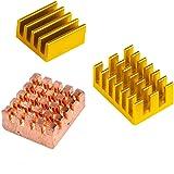 PiBOX India Raspberry Pi 4 Heatsink, 3 Pieces Raspberry Pi Heavy Duty Copper and Aluminum Heatsinks with Thermal Conductive A
