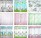 Baby Kinder Vorhänge mit Schlaufen für Kinderzimmer D8