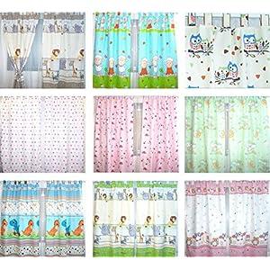 Baby Kinder Vorhänge mit Schlaufen für Kinderzimmer D1