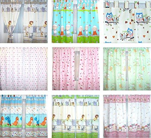 Baby Kinder Vorhänge mit Schlaufen für Kinderzimmer D10 (Zebra Tier Vorhang-set)