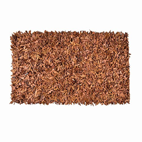 homescapes-dallas-brown-tan-90-x-150-cm-3-x-5-modern-designer-real-leather-shaggy-rug-leather-cuts