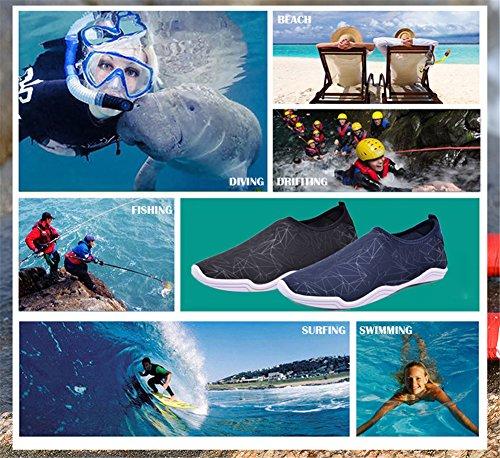 IceUnicorn Uomo Estate Surf Yoga da Black Nuotare Scarpe Spiaggia da Acquatici Asciugatura N2 Unisex Scoglio Scarpette Rapida Donna rgUfx5qwg