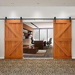 Beschreibung:Mit unseren Schiebetürbeschlägen für Holztüren inklusive Laufschiene, können Sie in Ihren Wohnräumen modern, platzsparend und ohne viel Aufwand eine beliebige Holztür zu einer Schiebetür umfunktionieren. Auf diese Weise lässt sich Ihr Wo...