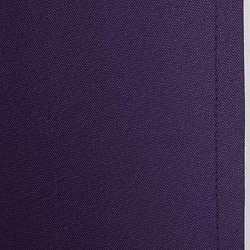 Deconovo Thermogardinen mit Ösen Oxford Vorhang für Schlafzimmer 240×140 cm Dunkellila - 5