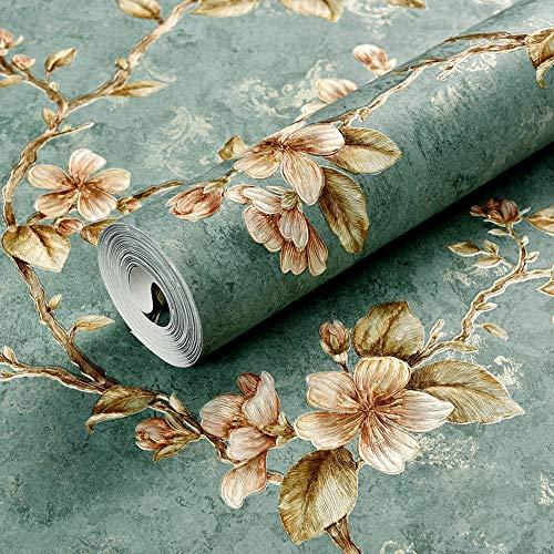 Preisvergleich Produktbild Z&J Amerikanischen Landgarten kleine Blume Vliestapete Retro Windrebe Blume Hochzeitszimmer Schlafzimmer Wohnzimmer TV Hintergrundbild (Pattern : C,  Size : 393 * 20in)