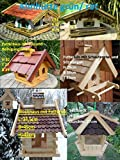 Futterhaus (Futterhaus mit Silo und Reinigungsklappe) 6 verschiedene Vogel-häuser Futter-station Silo Haus mit / ohne Reinigungsklappe Sitzstangen Dachschindeln Futterdosierer Blockhaus Pavillon