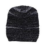 VRTUR Damen Strick Mütze Mode Beiläufig Behalten Warm Winter Häkeln Hüte Gestrickt Wolle Säumen Deckel