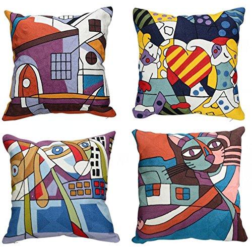 Top Finel Komfortable Stickerei Kissen Kissenbezug Sofa Abdeckung Haus Dekor Dekokissen Decorative Pillow Kissenhulle Quadratisch Auto Dekoration