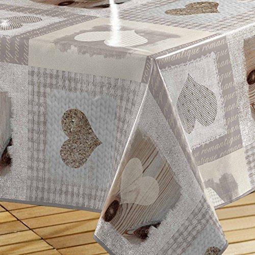 """comprare on line Décor Line Décor Line, tovaglia """"Cosy Coeur"""", PVC, senza colore, 140 x 240 cm prezzo"""