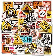 ملصقات علامات المرور، ملصقات تحذير بتصميمات هزلية، ملصقات الفينيل للدراجة والسيارة واللاب توب ولوح التزلج والح