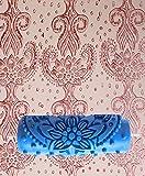 Tfxwerws DIY Décoration murale en relief Motif fleur Outil de rouleau de peinture (Bleu 15cm)...