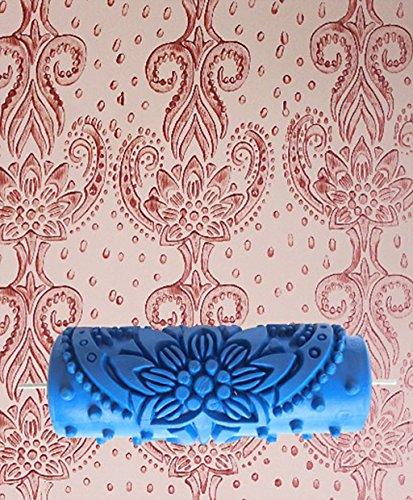 tfxwerws-fai-da-te-decorazione-da-parete-a-fiori-blu-15-cm-rullo-per-pittura
