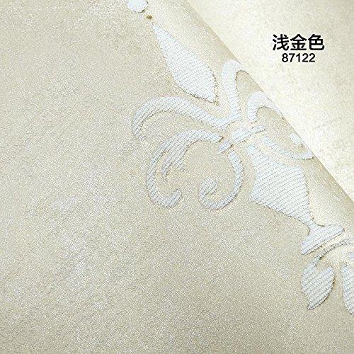 UCCUN Im europäischen Stil Schlafzimmer Tapete Wohnzimmer Hintergrund 3D-geprägte Streifen Non-Woven Wallpaper Papel de Parede Roll Kontakt Papier 87122, 53 CM X 10 M