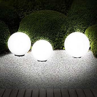 3er set kugelleuchten f r den au enbereich kugel set leuchtkugeln au enbeleuchtung. Black Bedroom Furniture Sets. Home Design Ideas