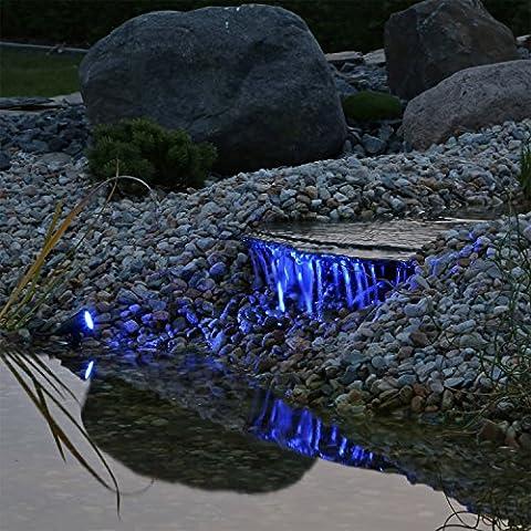 Profi Unterwasserbeleuchtung Teichstrahler 3er Set RGB LED Leuchten, 12V AC,