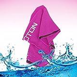 omoton Hightech-Kühlung Handtuch für sofortige relief-soft atmungsaktives Mesh Yoga towel-keep Cool für Laufen Radfahren Wandern und alle anderen Sport Rose Red