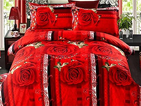 D&F BettwäSche 4 StüCk, Steppdecke Cover 200x230cm 100% Polyester Faser Schleifmittel Die Vier Jahreszeiten , A , 5 feet/6 feet /200x230