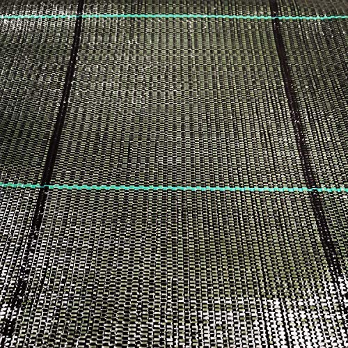 teli telo per pacciamatura nero quadrettato tessuto polipropilene antistrappo - mt 20 x 2,10 h