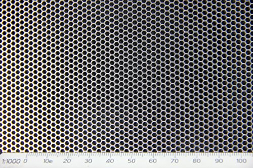 hexagonal-mild-steel-perforated-mesh-sheet-2mm-hole-25mm-pitch-1mm-thickness-a4-200-x-300mm-sheet