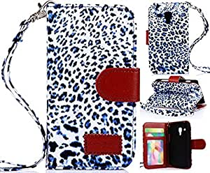 Galaxy S7562,Samsung Galaxy S7562 Case,Case For Samsung Galaxy S7562,Coddycase S7562 Case,Leopard Print Book Style Flip Wallet Leather Case Cover For Samsung Galaxy S Duos S7562 With Strap