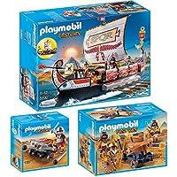 Playmobil® History Lot de 3538853905392Égyptiens avec feu Bal Liste + galeere romaine + Légionnaire avec Balliste