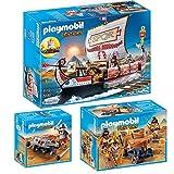 PLAYMOBIL® History 3er Set 5388 5390 5392 Ägypter mit Feuerballiste + Römische Galeere + Legionär mit Balliste
