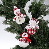 soxid (TM) 3piezas/set Mini juego de muñecas adornos de Navidad Papá Noel Muñeco de nieve árbol de Navidad colgar decoración suministros