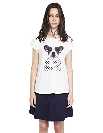 99928e49f2a7 Compañia Fantastica Women's Camiseta Dog T-Shirt: Amazon.co.uk: Clothing