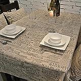 Mantel Rectangular Cubierta Mesa de café de tela Manteles Estilo Sencillo Sólido Textiles de hogar Para cocina 220*140cm