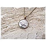 Leonid Meteor - Collar para Ducha con diseño de pájaro, joyería de pájaros Antiguos, joyería de Cristal cúpula, Hecho a Mano