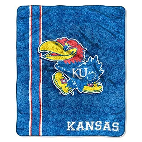 NCAA Kansas Jayhawks 50-Inch-by-60-Inch Sherpa on Sherpa Throw Blanket Jersey Design by Northwest