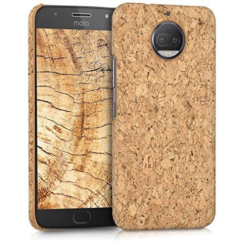 kwmobile Motorola Moto G5S Plus Hülle - Handyhülle für Motorola Moto G5S Plus - Handy Case Kork Cover Schutzhülle