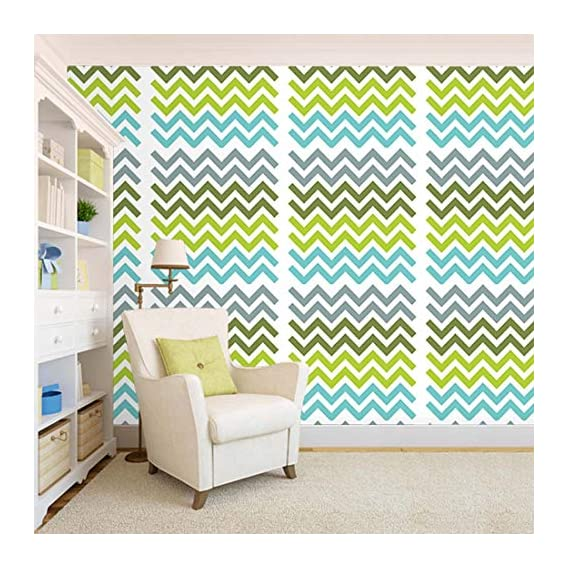 100Yellow? Zig-Zag Theme With Bright Colour Self Adhesive Peel & Stick Waterproof Wallpaper For Office