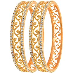YouBella Gold Plated Bangles For Women And Girls (2.4)