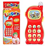 #2: Funny Teddy Learning Toy Mobile Phone with Pictures Projection & Sound (Color May Vary)