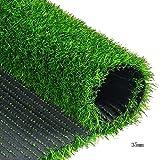 WENZHE Rasenteppich Rasenteppich Kunstrasen Kunstrasenteppich Sonnencreme Teppich Draussen Innen Auf Dem Dach Terrasse Begrünung 4 Dicken, Größe Anpassbar (Farbe : 35mm, größe : 2x4m)
