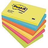 3M Post-it Pack Notas adhesivas 6 x 100 Bloc de nota , Multicolor (Colores Bangkok), Single, 127 x 76 mm
