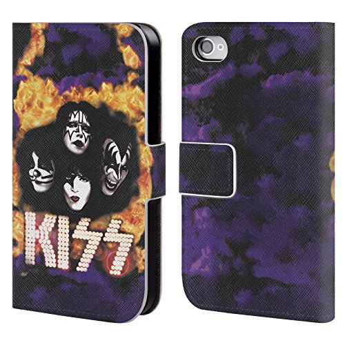 Ufficiale KISS America Posters Cover a portafoglio in pelle per Apple iPhone 4 / 4S You Wanted The Best