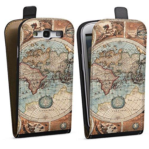 DeinDesign Samsung Galaxy S3 Tasche Hülle Flip Case Vintage Weltkarte Karte Map -